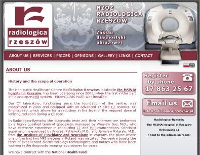 Radiologica-Rzeszow Website